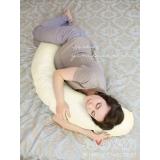 Подушка Легкая на подъем, бледно желтая в горошек