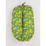 Подушка для беременных и кормящих Легкая на подъем зеленый, цветочки