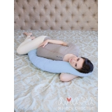 Подушка для беременных и кормящих Легкая на подъем бирюзовый, цветочки,