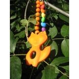 Лисичка оранжевая силиконовый прорезыватель -  подвеска