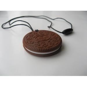 """Силиконовый грызунок прорезыватель """"Печенье"""" шоколадное"""