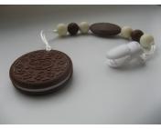 """Подвеска-грызунок силиконовая """"Печенье"""" шоколадное"""