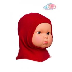 Шлем трикотажный красный