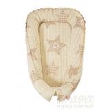 Гнездышко-кокон Баюленок, бежевый, вязание Амама