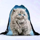Сумка-рюкзак с принтом Белый кот