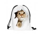 Сумка-рюкзак с принтом Кот-сюрприз