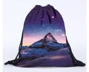Сумка-рюкзак с принтом Ночь в горах