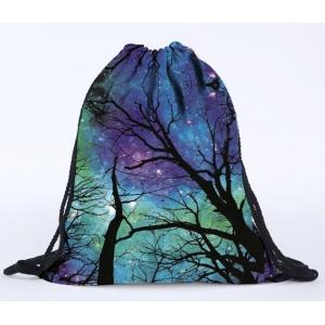 Сумка-рюкзак с принтом Ночь в лесу
