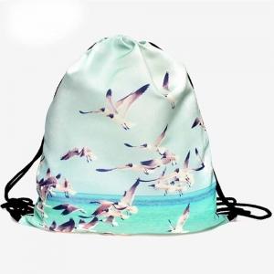 Сумка-рюкзак с принтом Птицы