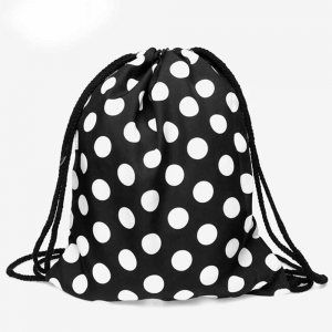 Сумка-рюкзак с принтом Горошки