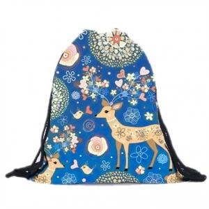 Сумка-рюкзак с принтом Олени