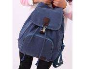 Крафтовый рюкзак Treveller синий джинс