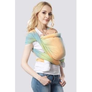 Слинг-шарф Градация саванна алмазного плетения