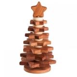 Пирамидка Елочка покрытая льняным маслом