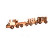 Малый паровозный состав с 4 вагонами