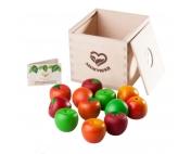 Счетный материал 12 Наливных яблочек, 4 сорта в коробочке-сортере