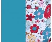 Эргорюкзак МАЛЫШ - Красно -синие цветы - изумрудный лён