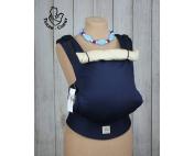 Темно-синий эргорюкзак Тедди слинг Комфорт без кармана, с прямыми универсальными лямками