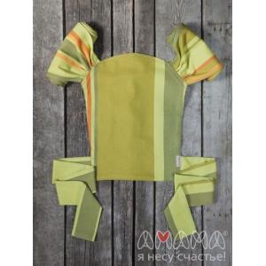 Детский май-слинг для куклы Табатайчик, зелёный полосатый - Амама