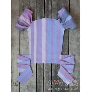 Детский май-слинг для куклы Табатайчик, фиолетовый полосатый