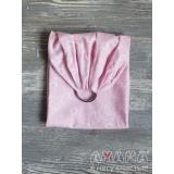 Детский слинг с кольцами для куклы Цветик, розовая ночка
