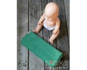 Детский слинг-шарф для куклы Мэнкэрэшечка, изумрудный