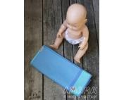 Детский слинг-шарф для куклы Табатайчик, бирюзово-полосатый