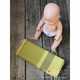 Детский слинг-шарф для куклы Табатайчик, зелено-полосатый