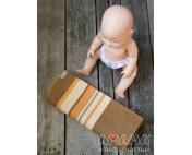 Детский слинг-шарф для куклы Табатайчик, коричнево-полосатый