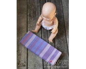 Детский слинг-шарф для куклы Табатайчик, фиолетово-полосатый