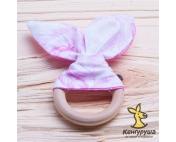 Прорезыватель любимые ушки, розовый гламур