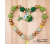 Слингобусы шуршалки Совунья в зеленом