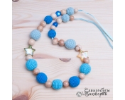 Слингобусы шуршалки Голубые звезды