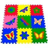 """Детский развивающий  коврик-пазл  """"Бабочки"""" 33х33х0,9 см"""