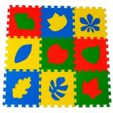 """Детский развивающий  коврик-пазл  """"Листья"""" 33х33х0,9 см"""