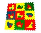 """Детский развивающий коврик-пазл """"Животные"""" 33х33х0,9 см"""
