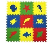 """Детский развивающий коврик-пазл """"Морские животные"""" 33х33х0,9 см"""