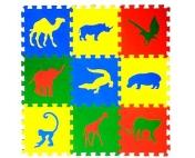 """Детский развивающий коврик-пазл """"Сафари"""" 33х33х0,9 см"""