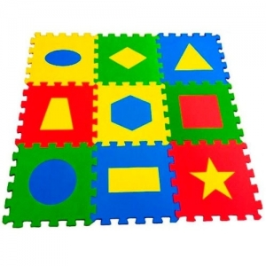 """Детский развивающий коврик-пазл """"Геометрия"""" 33х33х0,9 см"""
