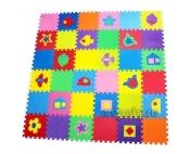"""Комплект """"Разноцветный коврик с фигурками"""" 4 кв.м. (33х33x1 см)"""