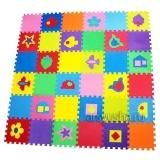 """Комплект """"Разноцветный коврик с фигурками"""" 4 кв.м. (33х33x2 см)"""