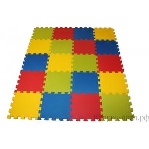 "Коврик-пазл BABYPUZZ ""Разноцветная полянка"" с кромками, 50x50х2 см"