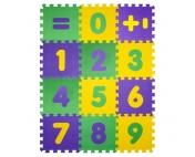 """Коврик-пазл BABYPUZZ """"Математика"""" (12 плит 33х33х1 см)"""