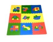 Детский развивающий коврик-пазл Транспорт 30х30х0,9см