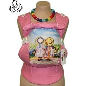 Эрго-рюкзак Тедди слинг ЛЮКС Детское настроение прогулка розовый