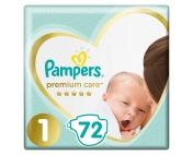 Подгузники Pampers Premium Care Newborn 1 2-5кг 72шт