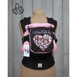 Эрго-рюкзак Тедди слинг ЛЮКС Мисс зефирка с изогнутыми анатомическими лямками