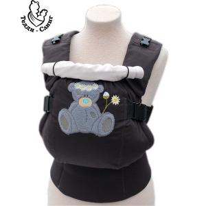 Эрго-рюкзак Тедди слинг ЛЮКС Мишка в ромашках коричневый