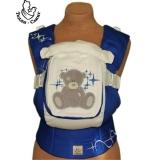 Эрго-рюкзак Тедди слинг ЛЮКС Мишка со звездами сине-белый