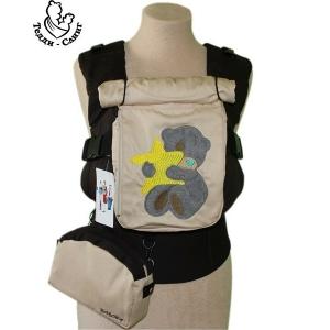 Эрго-рюкзак Тедди слинг ЛЮКС Мишка со звездой коричневый